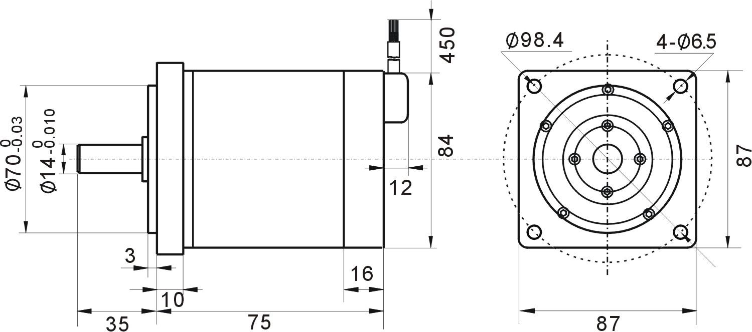 技术特点 有刷直流电机具有性能优良、控制简单方便等突出优点,但也存在机械换向的明显不足,限制了其在高转速、高电压、大容量方向的发展。而目前所普遍使用的三相方波驱动无刷直流电动机却存在力矩波动大、高速性能受绕组电感限制等不足。基于各应用领域对高速、高效、低噪声、低脉动转矩等高性能控制电机的需求,北京和利时电机公司利用自身研发的尖端优势,对传统无刷直流电机的不足之处做出根本性设计更改,对电机及控制技术进行了深入系统的研究,使它从原理上和性能上更接近传统直流电机,开发出多款高速高效无刷直流电机及控制器,并已成功