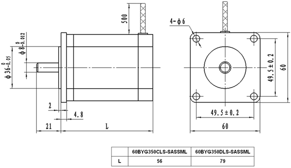 【西南昆明syntron森创三相混合式步进电机60byg350